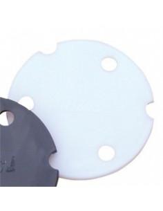 Charniére ronde 70x40x4.5mm, couleur noire
