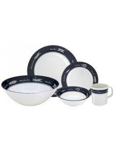 Feu tout horizon 360°, lumière LED blanche 12-15V & 1,5W, plateforme montée, visibilité jusqu'à 2NM, couleur noire