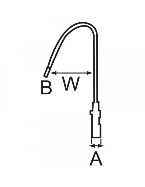 Set de 3 cadenas anse longue, L30mm