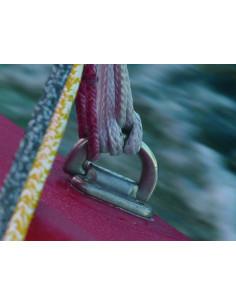 Bosse polyester avec boucle pour pare-battage, ø12mm, L 3m, noire