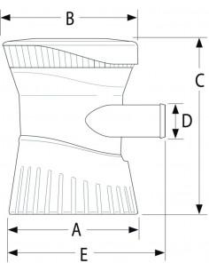 Rallonge de barre-franche pour moteur hors-bord 80 cm