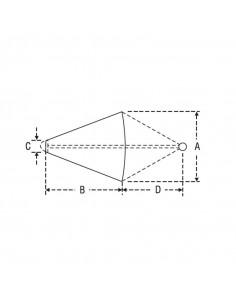 Coffres de rangement encastrables , 428x184x112,5mm