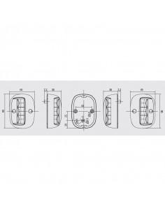 Taud Aluminium ''Poseidon'' 180x130x110cm - blanc